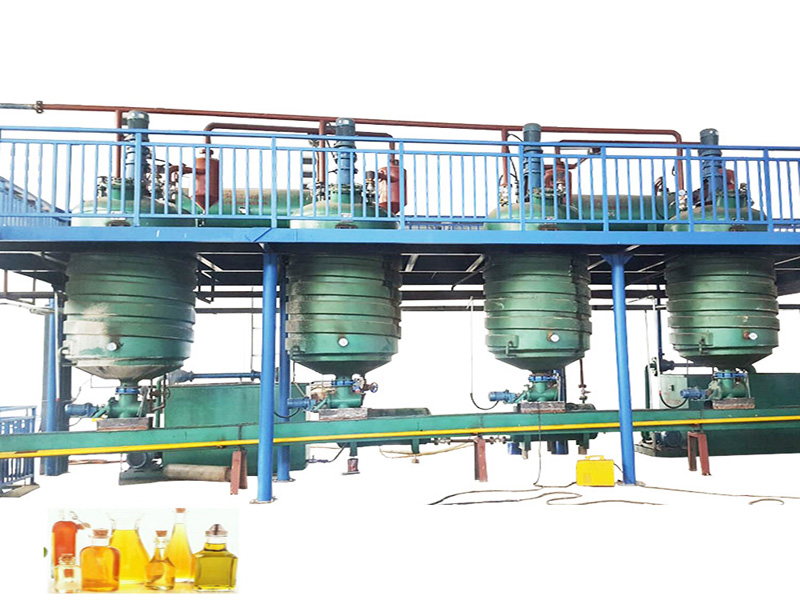 edible oil refinery plant manufacturer supplies oil refining