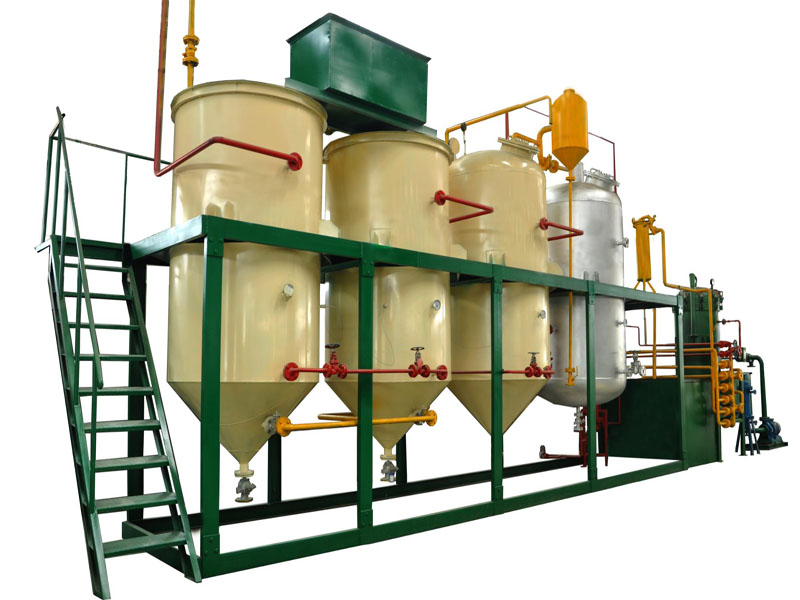 supply vegetable oil refinery plant for refining crude palm